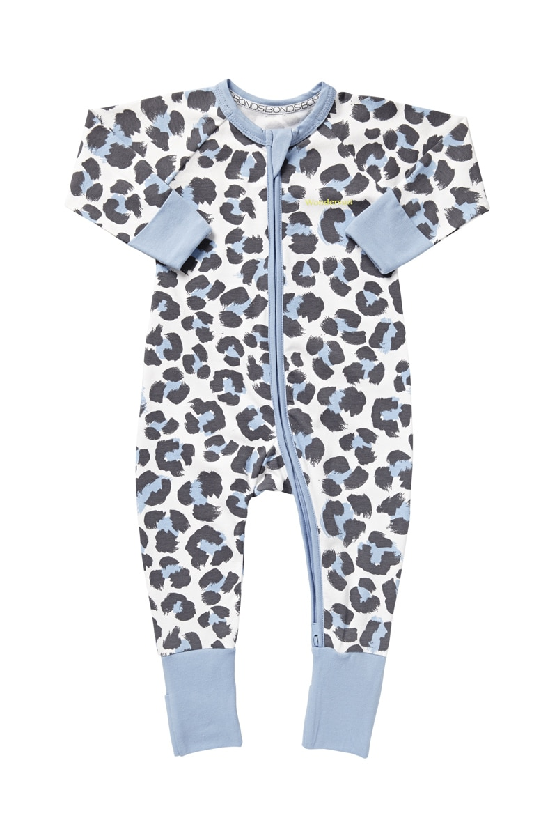 Bonds Baby Clothing - Zip Wondersuit - Painted Leopard - 3-6 Mths (00)