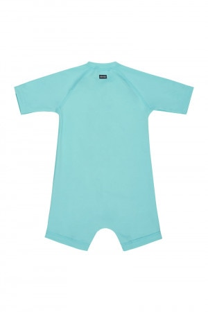Baby Swim Short Sleeve Zip Suit