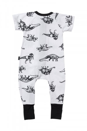 Bonds Zip Wondersuit Dino Party White BYEKA 4FL