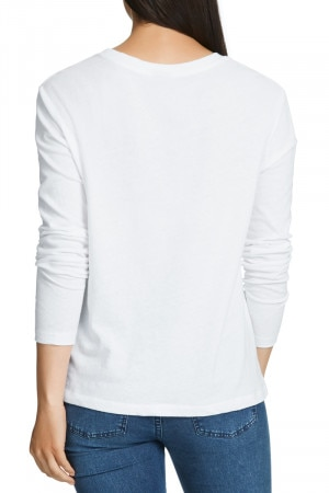 Linen Touch Long Sleeve Tee