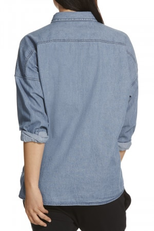 Bonds Heavy Woven Oversized Shirt Mid Chambray CXMDI MNH