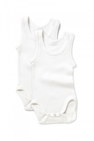 Bonds Singletsuit 2 Pack White BZKH WIT