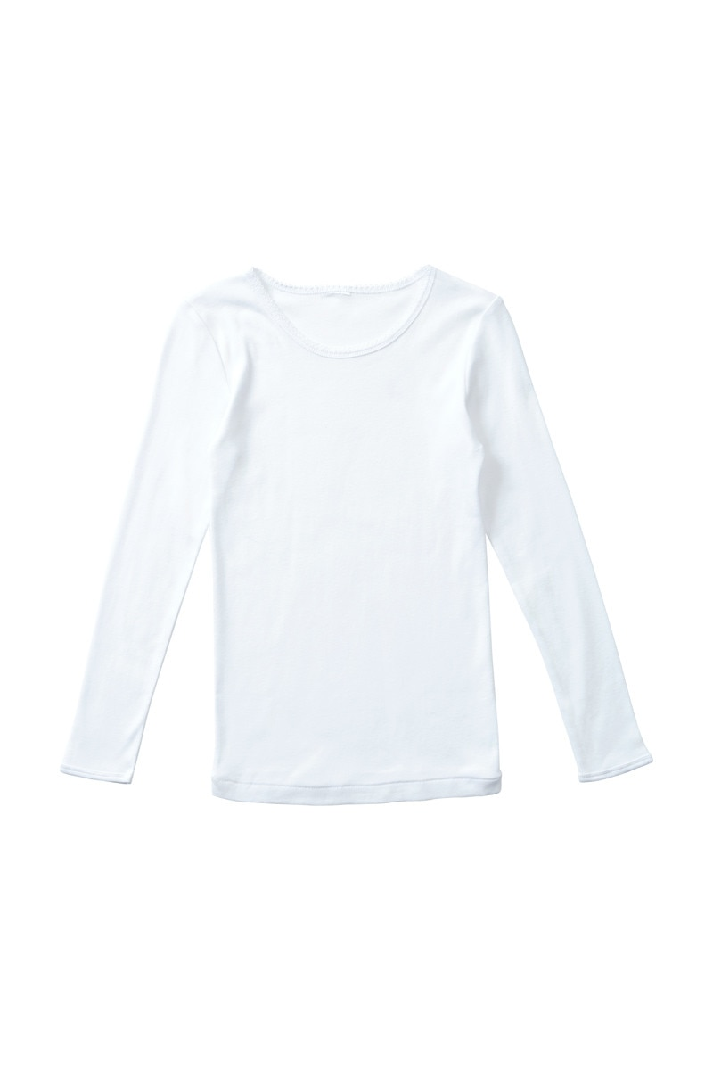 Bonds Girls Cotton Long Sleeve Layer Top White