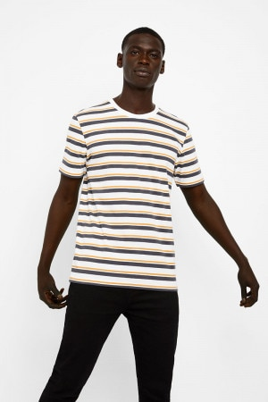 Bonds Stripe Crew Tee So Extra Stripe