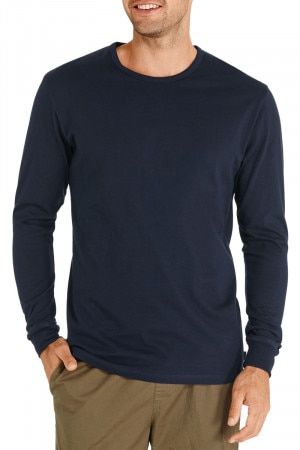 Bonds Long Sleeve Crew Tee Deep Arctic