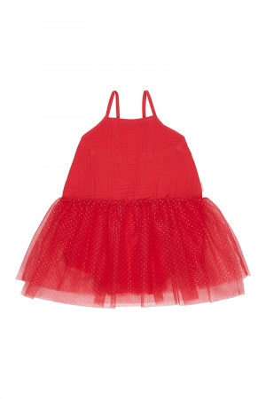 Bonds Cheesecloth Tulle Playsuit Supreme Red
