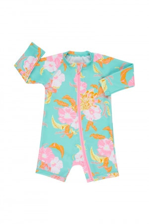 Bonds Baby Swim Long Sleeve Zip Suit Hawaiian Hangout Brainfreeze