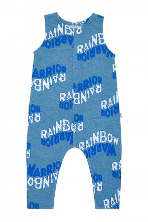 Bonds Rugby Onesie Rainbow Warrior Wave Blue