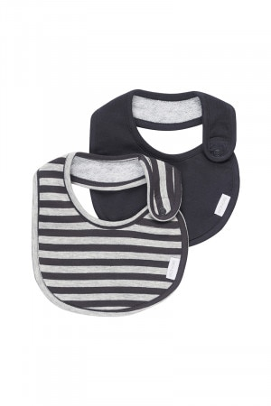 Bonds Newbies Dribble Bib 2 Pack New Grey Male & Solar System