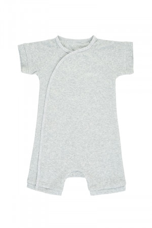 Bonds Pointelle Short Sleeve Cozysuit New Grey Marle