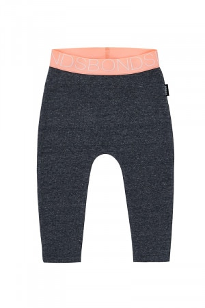 Bonds Stretchies Rib Legging Charcoal Marle