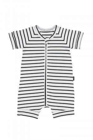 Bonds Zip Romper Wondersuit Black & White BXNMA 09C