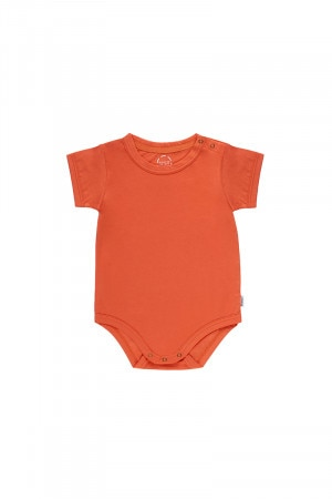 Bonds Crew Bodysuit Dusty Tangerine