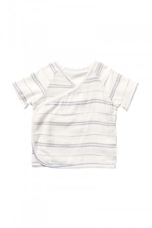 Bonds Cheesecloth Wrap Tee Aloha Stripe BXRMA 1FC