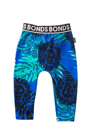 Bonds Stretchies Legging Welcome To The Jungle Blue