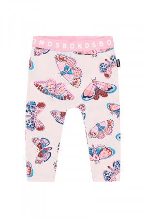 Bonds Stretchies Legging Butterfly Away Pink