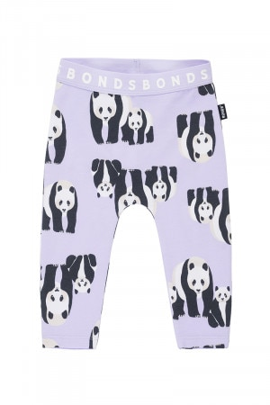Bonds Stretchies Legging Panda Parade Pretty Lavender