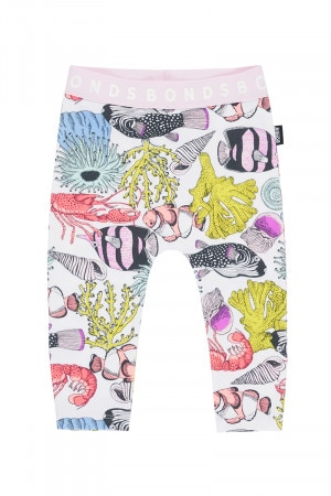 Bonds Stretchies Legging Great Barrier Reef White