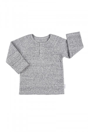 Bonds Newbies Rib Henley Granite Marle