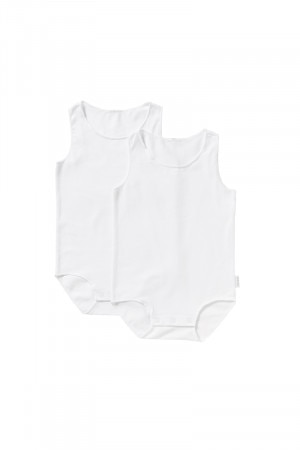 Bonds Wonderbodies Singletsuit 2 Pack White & White BY4VA PK7