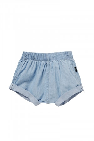 Bonds Woven Chambray Short Summer Blue BY6LA F62