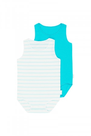 Bonds Wonderbodies Singletsuit 2 Pack Unreal Aqua & Aqua Wave