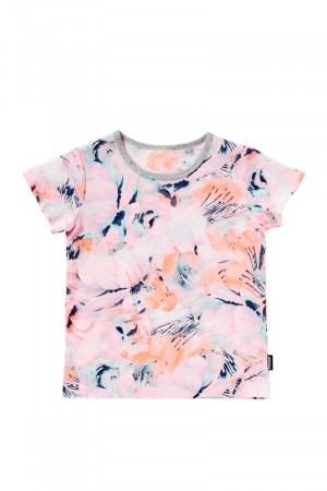 Bonds Short Sleeve Tee Seasalt Floral