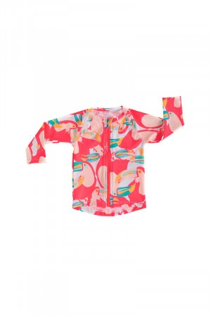 Bonds Baby Swim Long Sleeve Zip Rashie Talking Toucans Rave