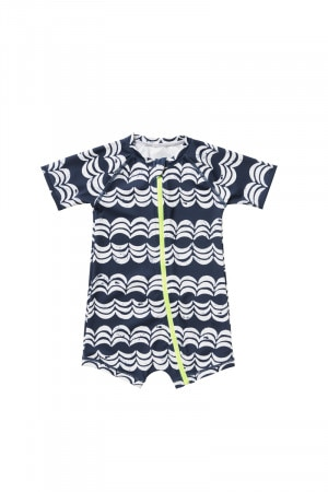 Bonds Short Sleeve Swim Zip Suit Wave Baby