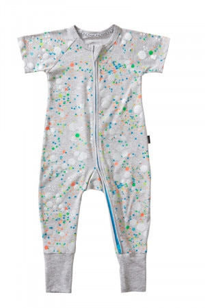 Bonds Zip Wondersuit Glitter Bomb Grey