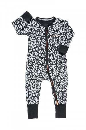 Bonds Zip Wondersuit Kaleidoscope Leopard Black BYEXA 1EK