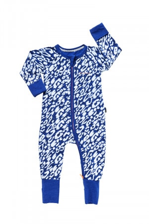 Bonds Zip Wondersuit Splice Leopard Azuli Blue BYEXA 8DT
