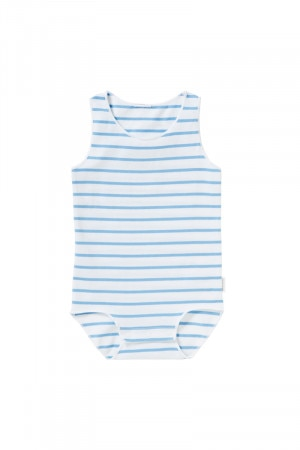 Bonds Wonderbodies Singletsuit Chambray Shirt Stripe