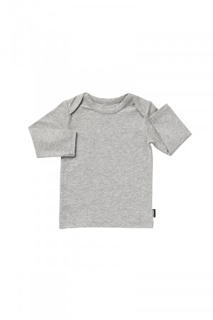Bonds Stretchies Long Sleeve Tee New Grey Marle BYNN NWY