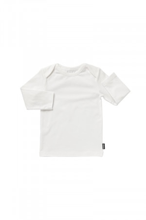 Bonds Stretchies Long Sleeve Tee White BYNN WIT