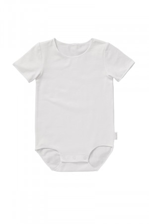 BONDS Wonderbodies Short Sleeve Bodysuit White BYNXA WIT