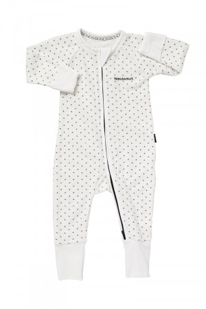 Bonds Zip Wondersuit White & Admiral Jess Spot BZJSM 62W