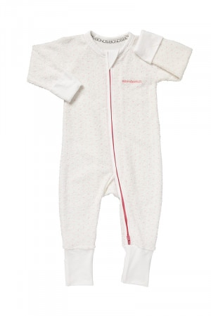 Bonds Zip Wondersuit White & Hyper Bloom Spot BZJSM 64W