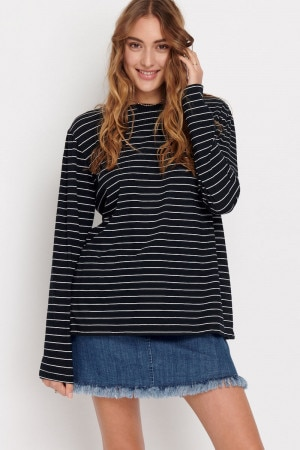 Bonds Long Sleeve Crew Tee Stripe 89B