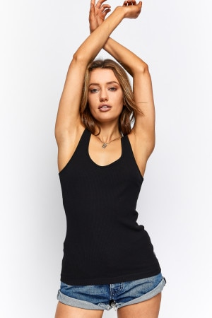 Bonds Bodies Rib Tank Nu Black