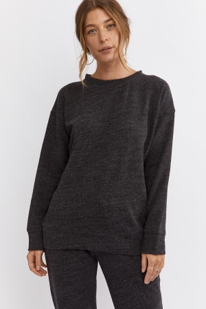 Bonds Cozy Fleece Pullover Speckle Marle Black