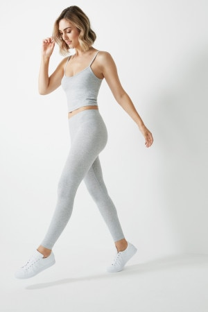 Bonds Bodies Cropped Vee Tank New Grey Marle
