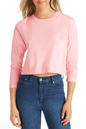 Bonds Originals Crop Tee Washed Sunrise Pink