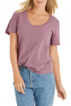 Bonds Originals Slim Scoop Tee Washed Plum