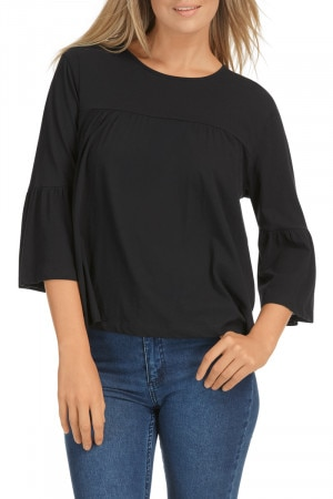 Bonds Everyday 3/4 Frill Top Nu Black
