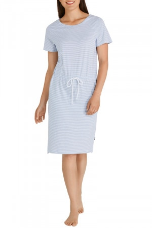 Bonds Besties Tee Dress Mini Twin Stripe Portsea Blue