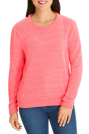 Bonds Tri Blend Pullover Ruby Grapefruit