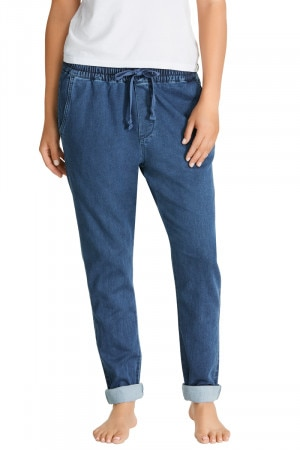 Bonds Chambray Straight Leg Pant Mid Chambray