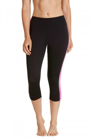 Bonds Bodycool Spliced 3/4 Legging Neo Fuchsia