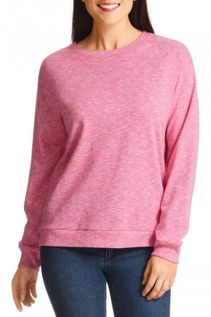 Bonds Texture Terry Pullover Hot Purple